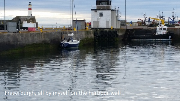 Fraserburgh, all by myself on the harbour wall