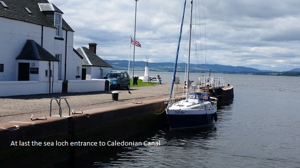 At last, Clachnaharry Sea lock, the entrance to the Caledonian Canal