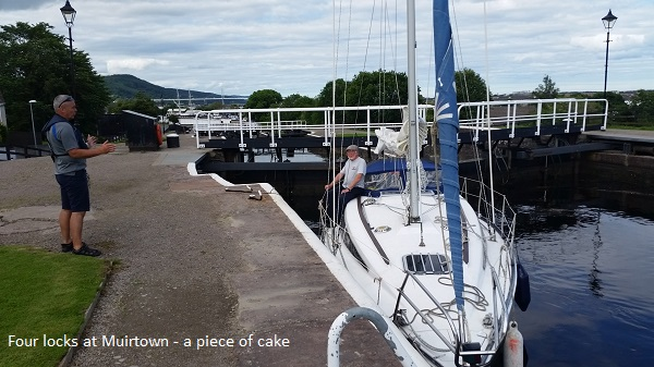 Four locks at Muirtown - a piece of cake